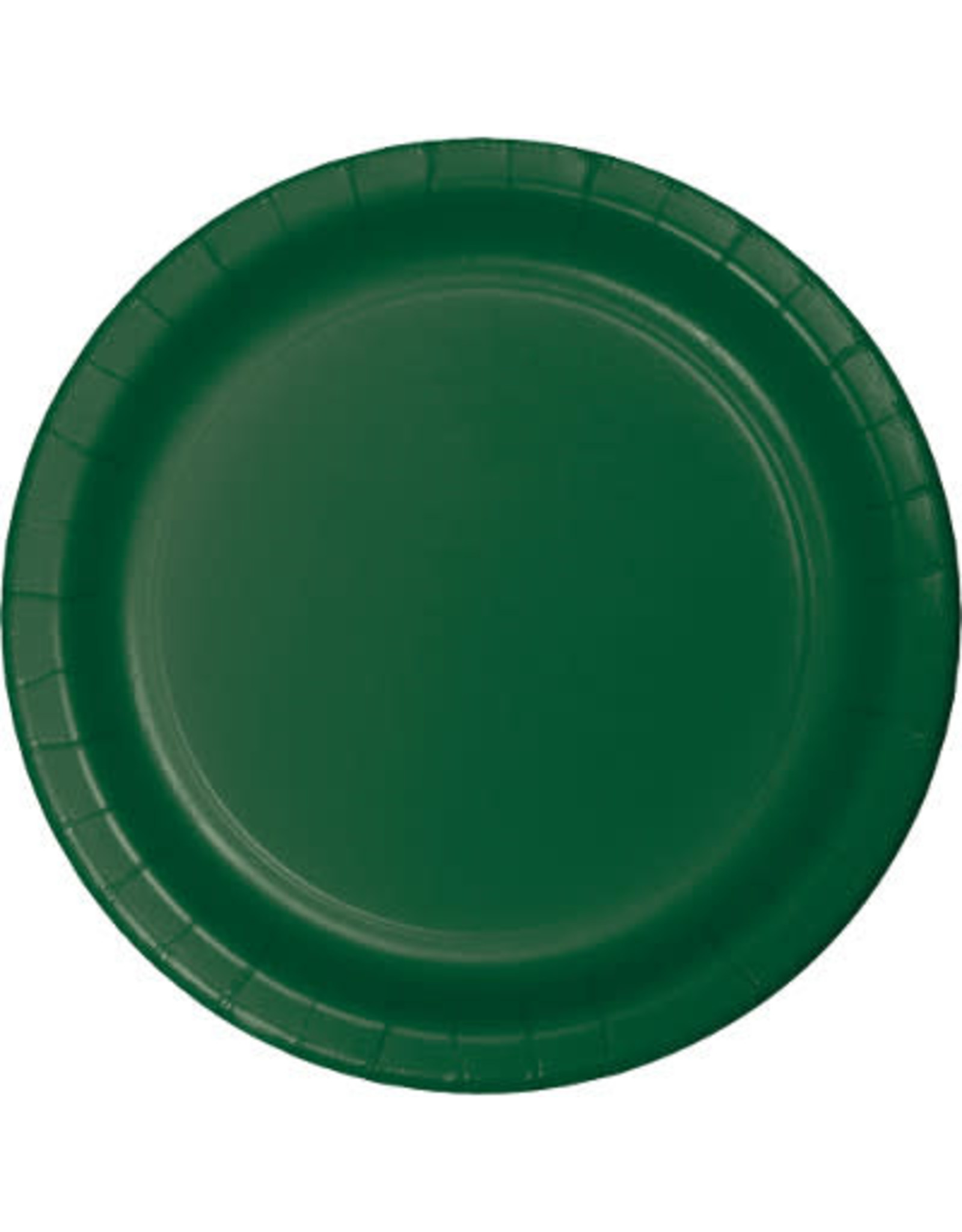 """Touch of Color 10"""" Hunter Green Paper Banquet Plate"""