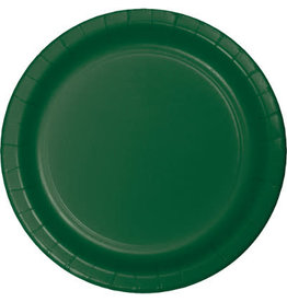 "Touch of Color 10"" Hunter Green Paper Banquet Plate"