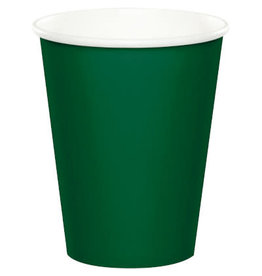 Touch of Color HUNTER GREEN CUPS 9OZ
