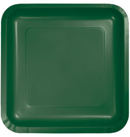 Touch of Color HUNTER GREEN SQUARE DESSERT PLATES