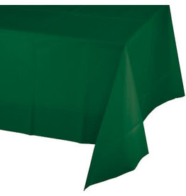 Touch of Color HUNTER GREEN PLASTIC TABLECLOTH