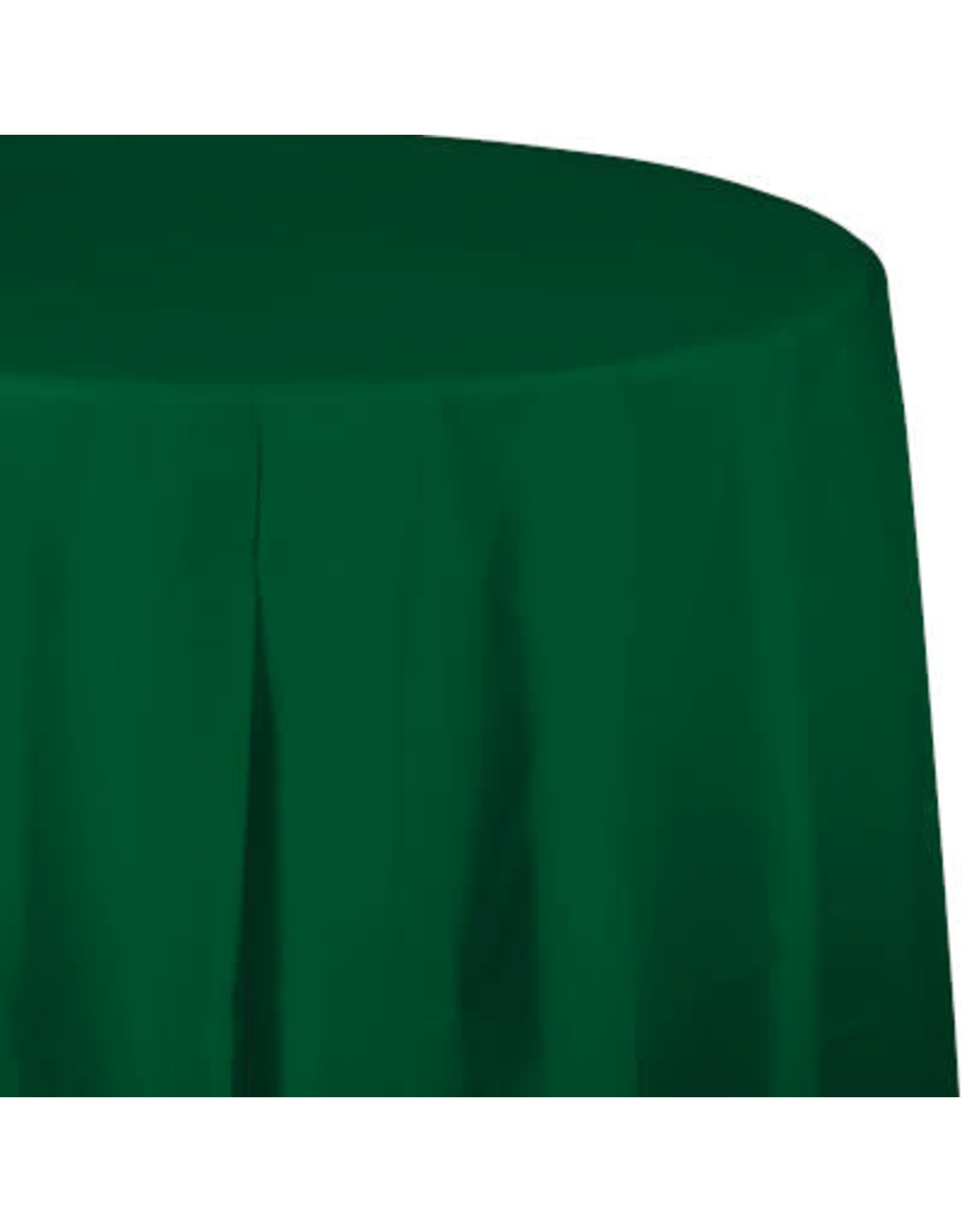 Touch of Color HUNTER GREEN ROUND PLASTIC TABLECLOTH
