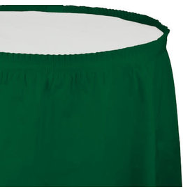 Touch of Color HUNTER GREEN PLASTIC TABLESKIRT
