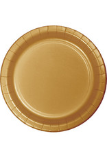 "Touch of Color 10"" Glittering Gold Paper Banquet Plate"