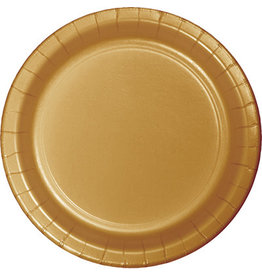 """Touch of Color 10"""" Glittering Gold Paper Banquet Plate"""