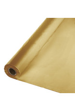 Touch of Color GLITTERING GOLD PLASTIC BANQUET ROLL