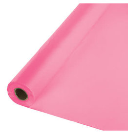 Touch of Color CANDY PINK PLASTIC BANQUET ROLL