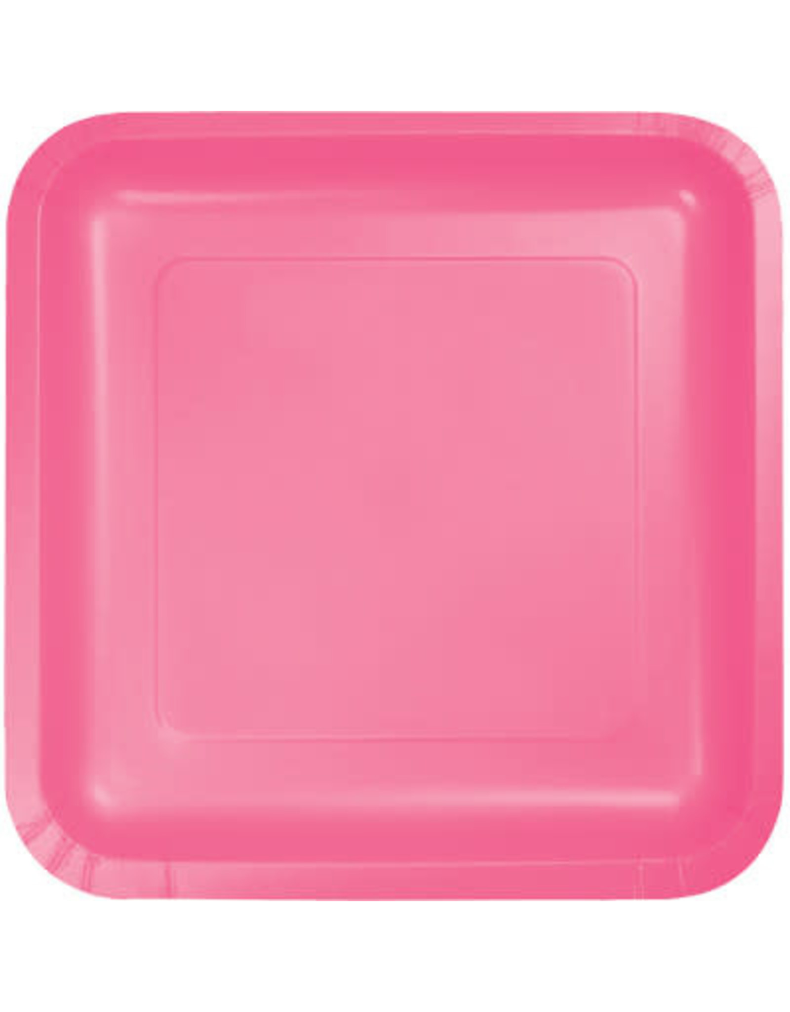Touch of Color CANDY PINK SQUARE DESSERT PLATES