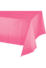 Touch of Color CANDY PINK PLASTIC TABLECLOTH