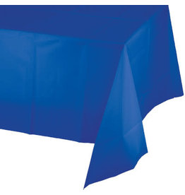 Touch of Color COBALT BLUE PLASTIC TABLECLOTH