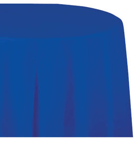 Touch of Color COBALT BLUE ROUND PLASTIC TABLECLOTH