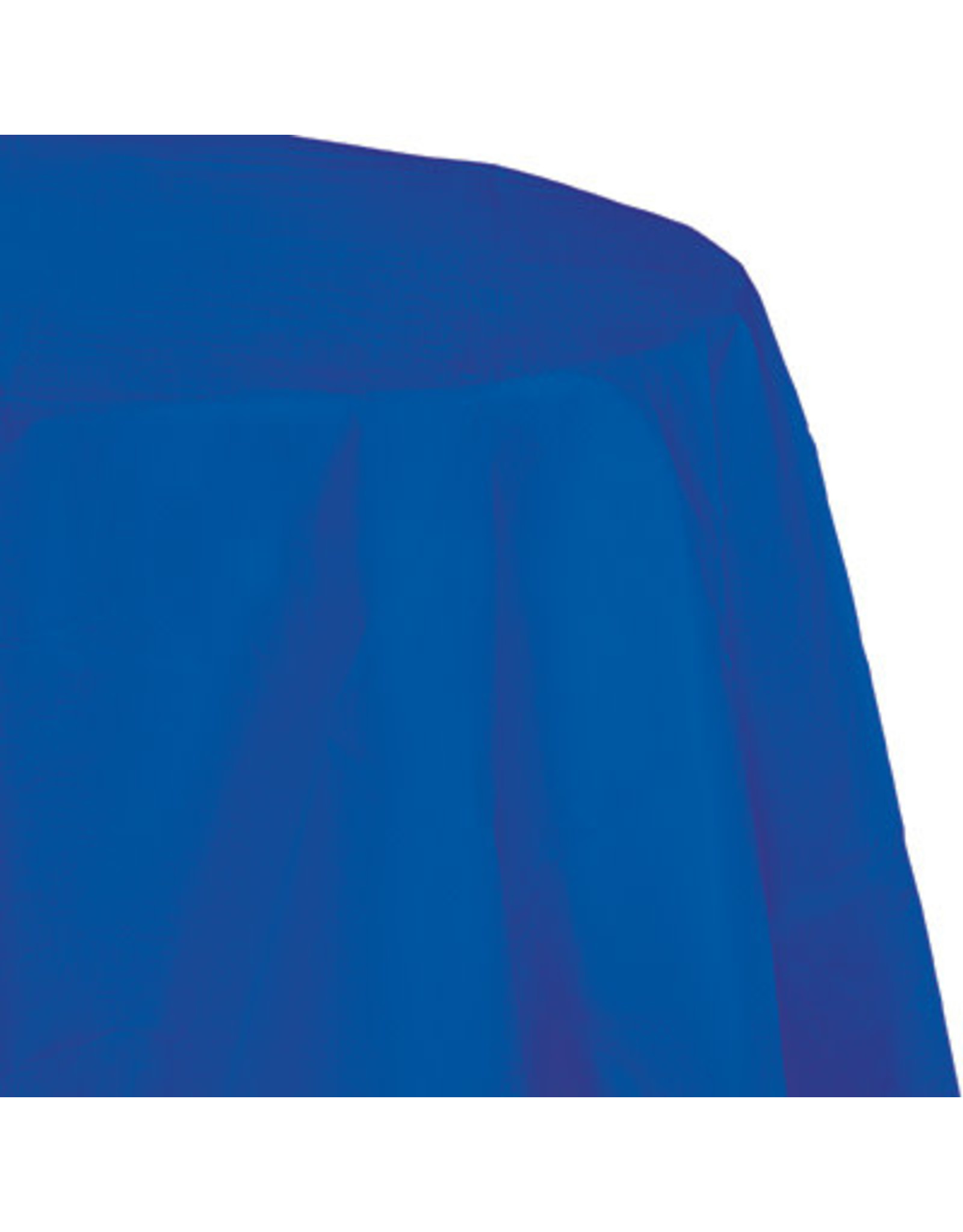 Touch of Color COBALT BLUE OCTY ROUND PAPER TABLECLOTH
