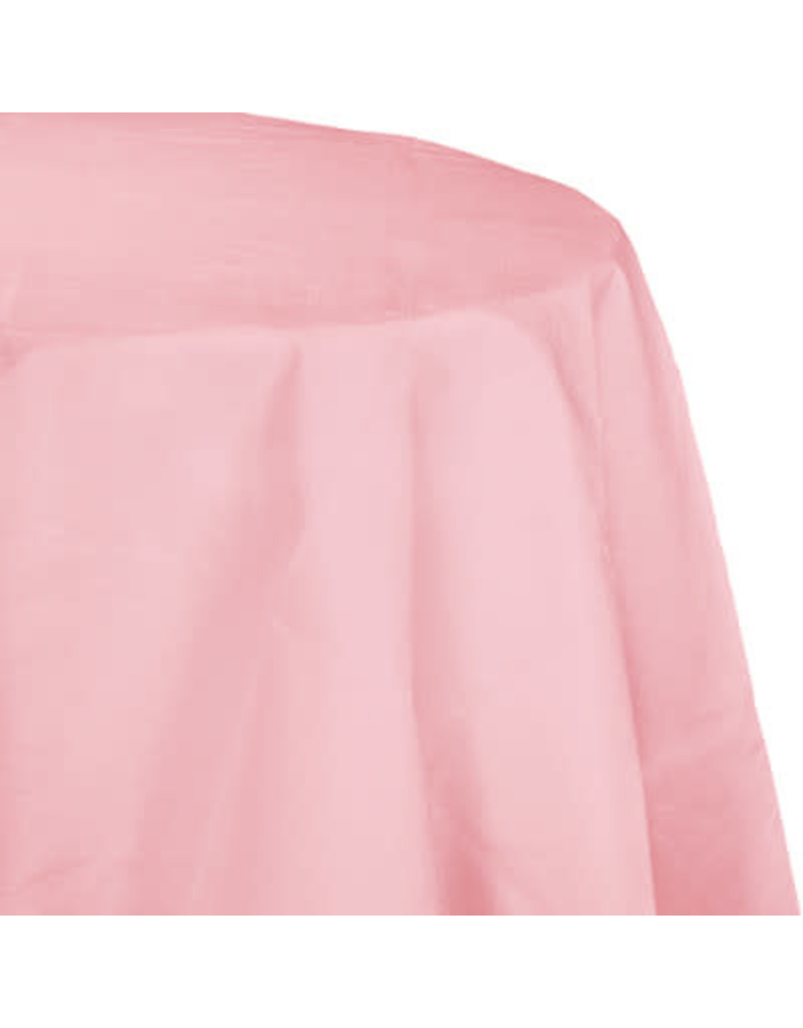 Touch of Color CLASSIC PINK OCTY ROUND PAPER TABLECLOTH