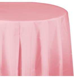 Touch of Color CLASSIC PINK ROUND PLASTIC TABLECLOTH