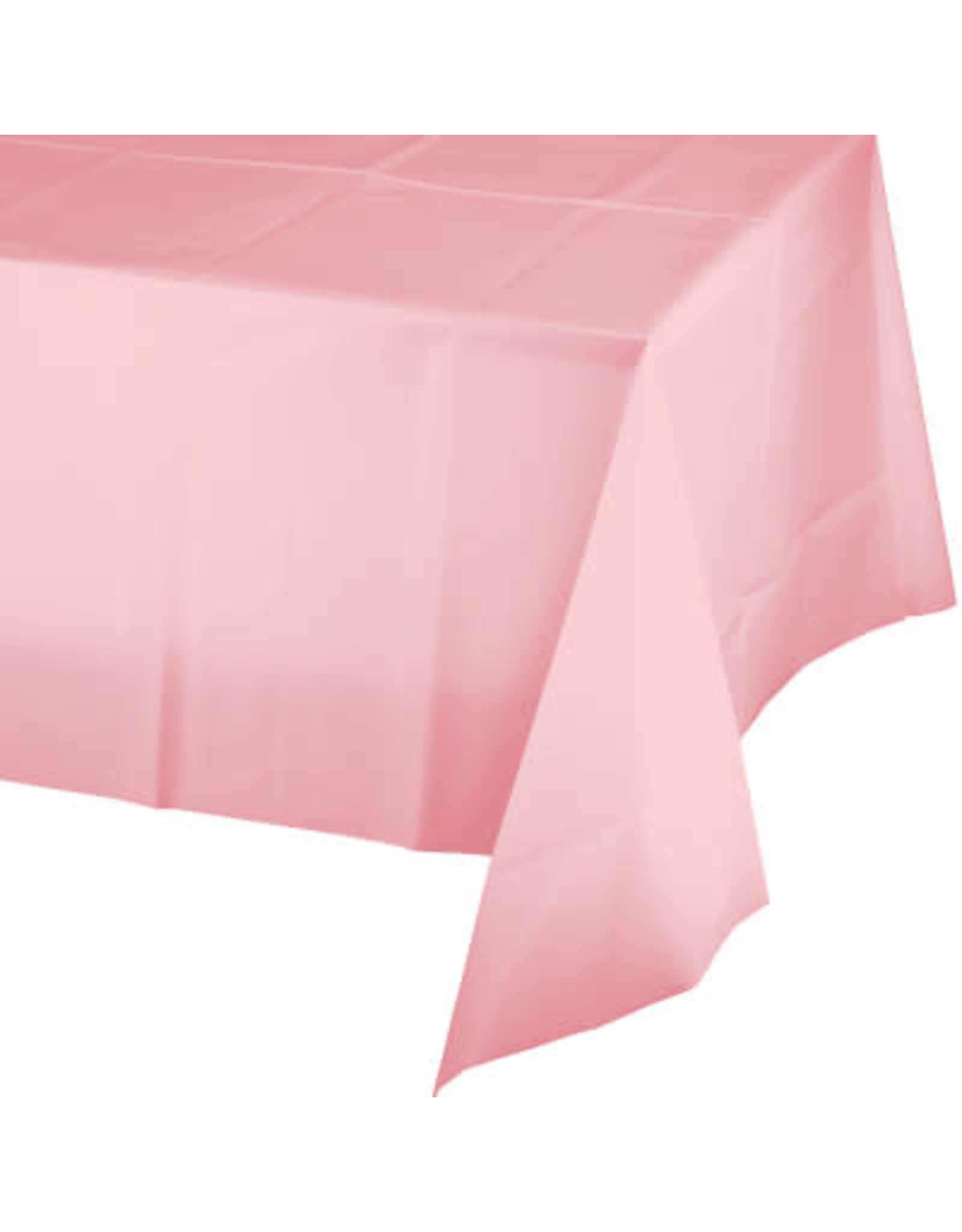Touch of Color CLASSIC PINK PLASTIC TABLECLOTH