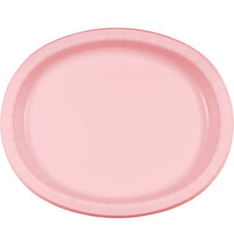 Touch of Color Classic Pink Oval Paper Plates - 8ct.