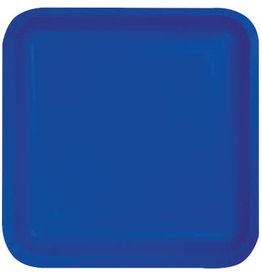 Touch of Color SQUARE COBALT BLUE DINNER PAPER PLATES