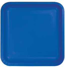 Touch of Color COBALT BLUE SQUARE DESSERT PLATES