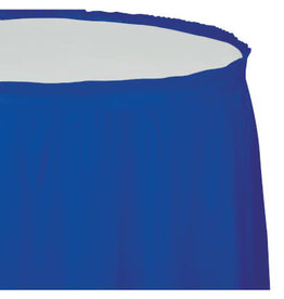 Touch of Color COBALT BLUE PLASTIC TABLESKIRT