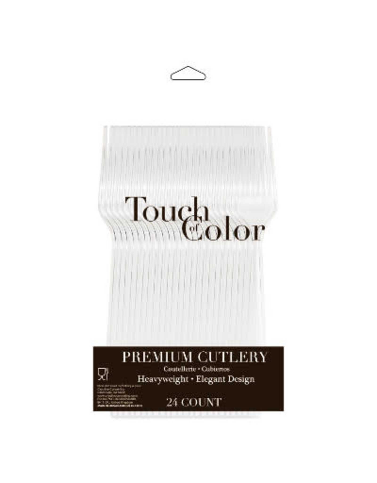 Touch of Color CLEAR PLASTIC FORKS