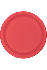 """Touch of Color 10"""" Coral Paper Banquet Plate"""