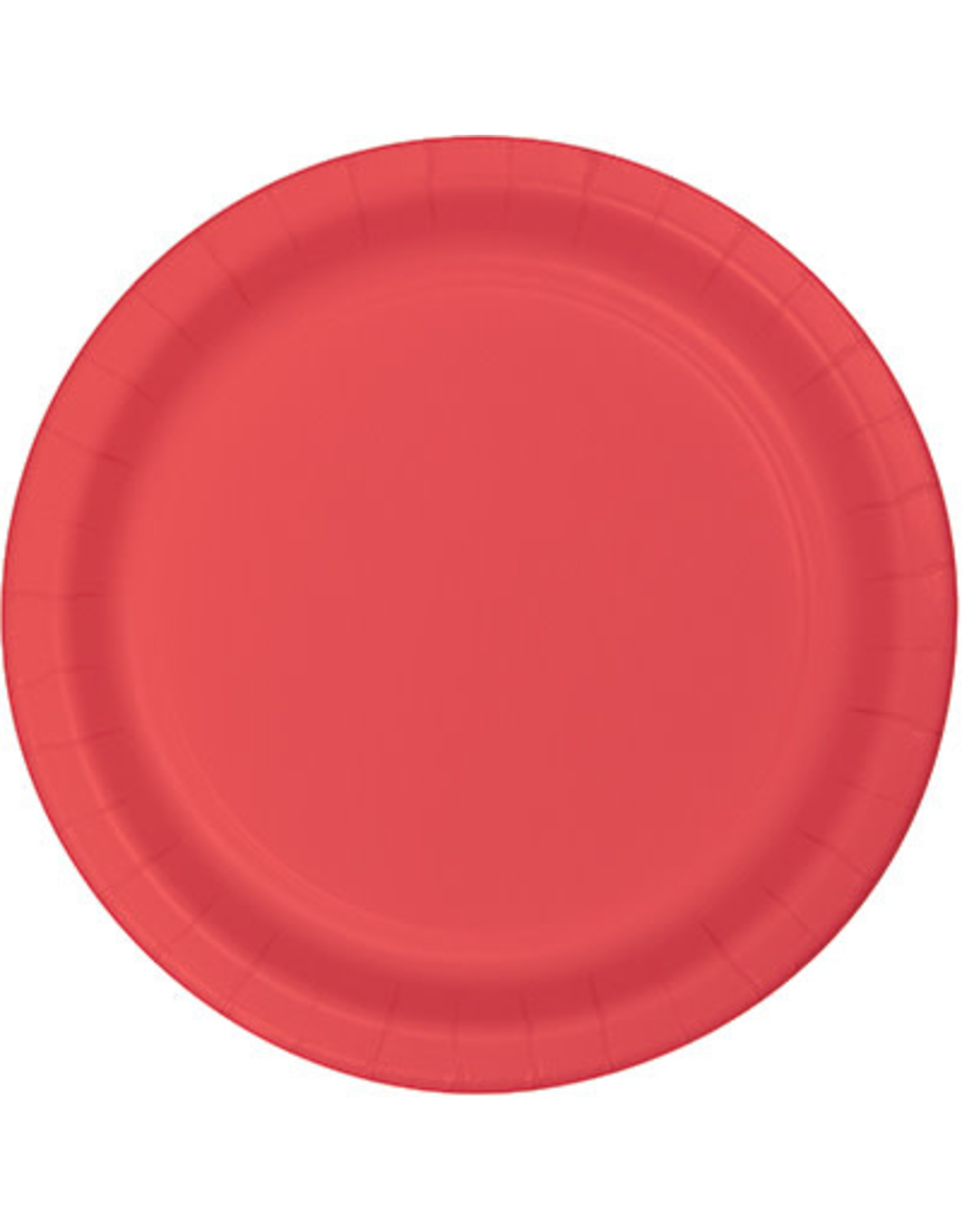 """Touch of Color 10"""" Coral Paper Banquet Plates - 24ct."""