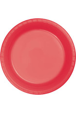 Touch of Color CORAL PLASTIC BANQUET PLATES