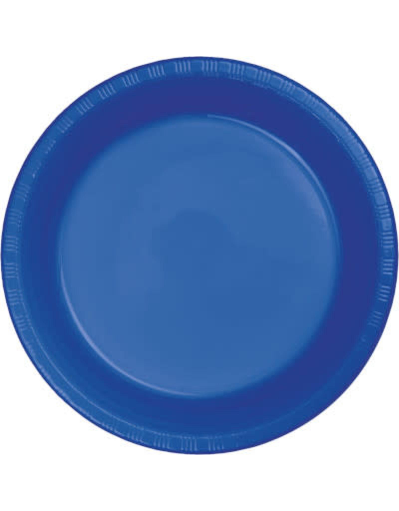 Touch of Color COBALT BLUE PLASTIC DESSERT PLATES