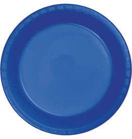 Touch of Color COBALT BLUE PLASTIC DESSERT PLATES