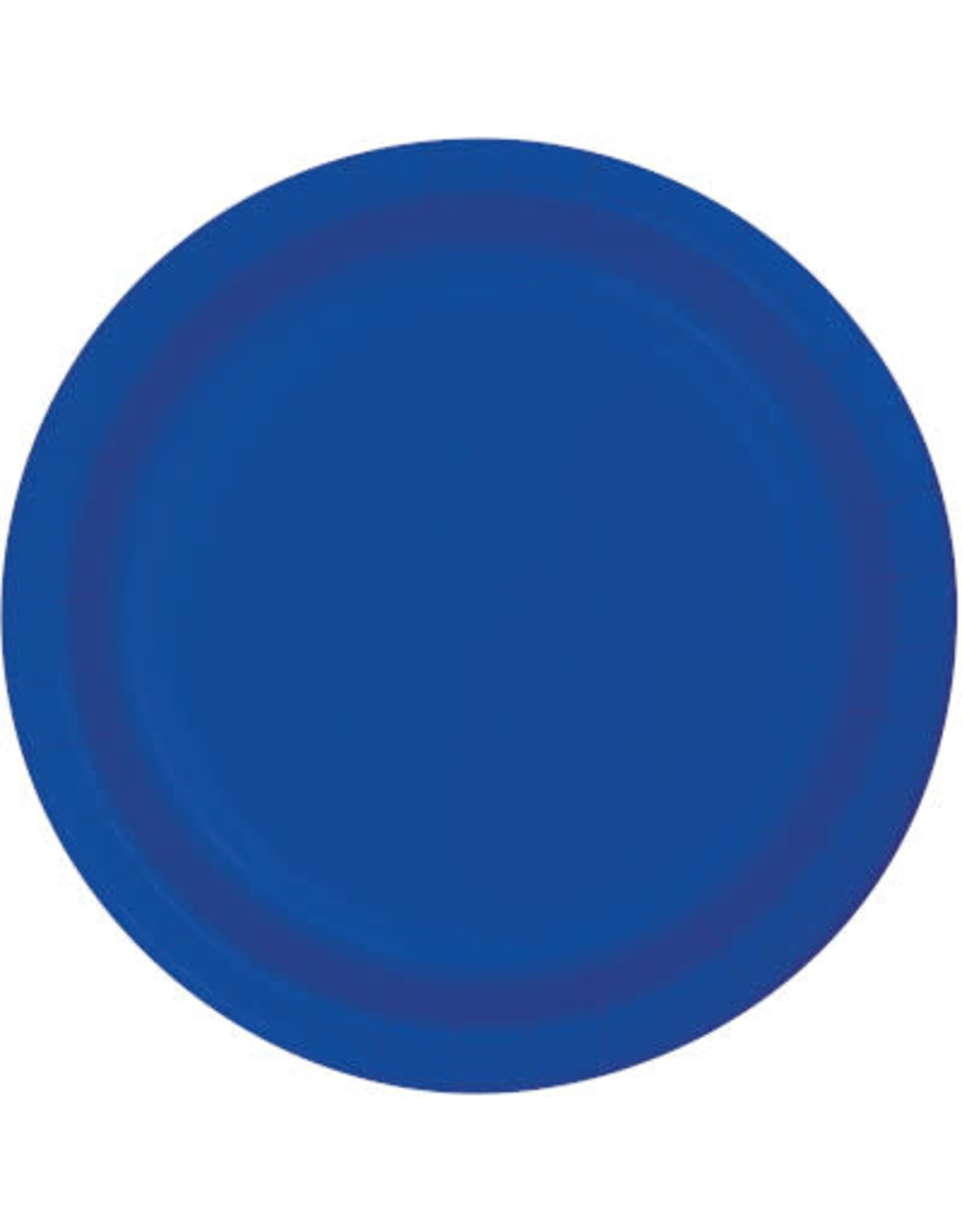 """Touch of Color 10"""" Cobalt Paper Banquet Plates - 24ct."""