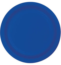 "Touch of Color 10"" Cobalt Paper Banquet Plate"