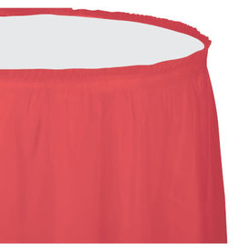 Touch of Color CORAL PLASTIC TABLESKIRT