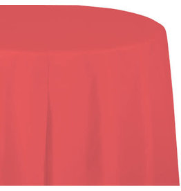 Touch of Color CORAL OCTY ROUND PAPER TABLECLOTH