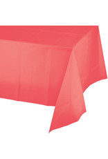 Touch of Color CORAL PLASTIC TABLECLOTH