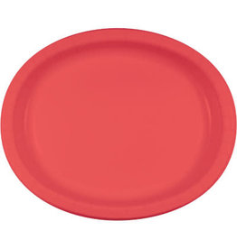 Touch of Color Coral Oval Paper Plates - 8ct.