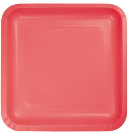 Touch of Color CORAL SQUARE DESSERT PLATES