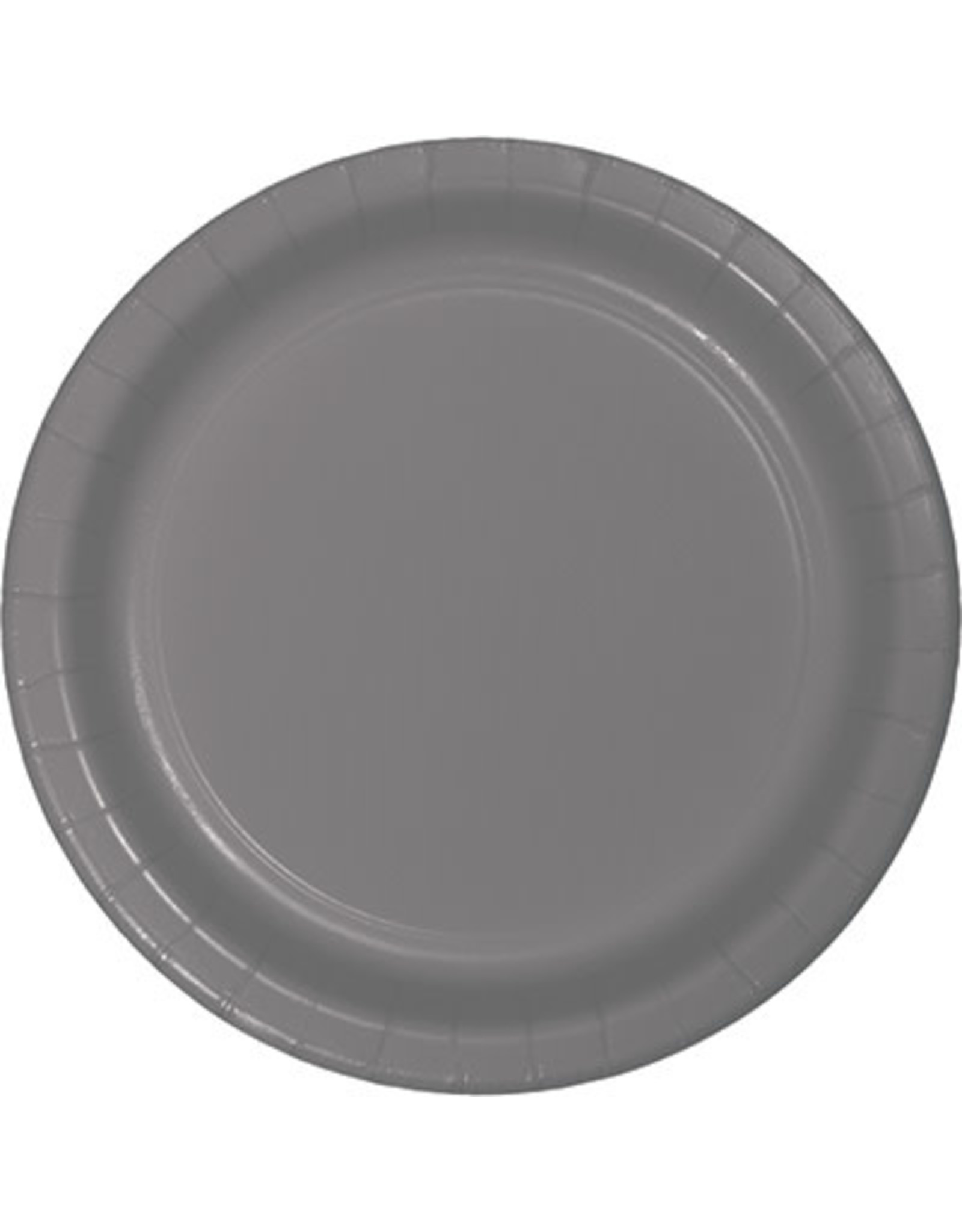 "Touch of Color 10"" Glamour Gray Paper Banquet Plate"