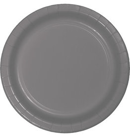 """Touch of Color 10"""" Glamour Gray Paper Banquet Plate"""