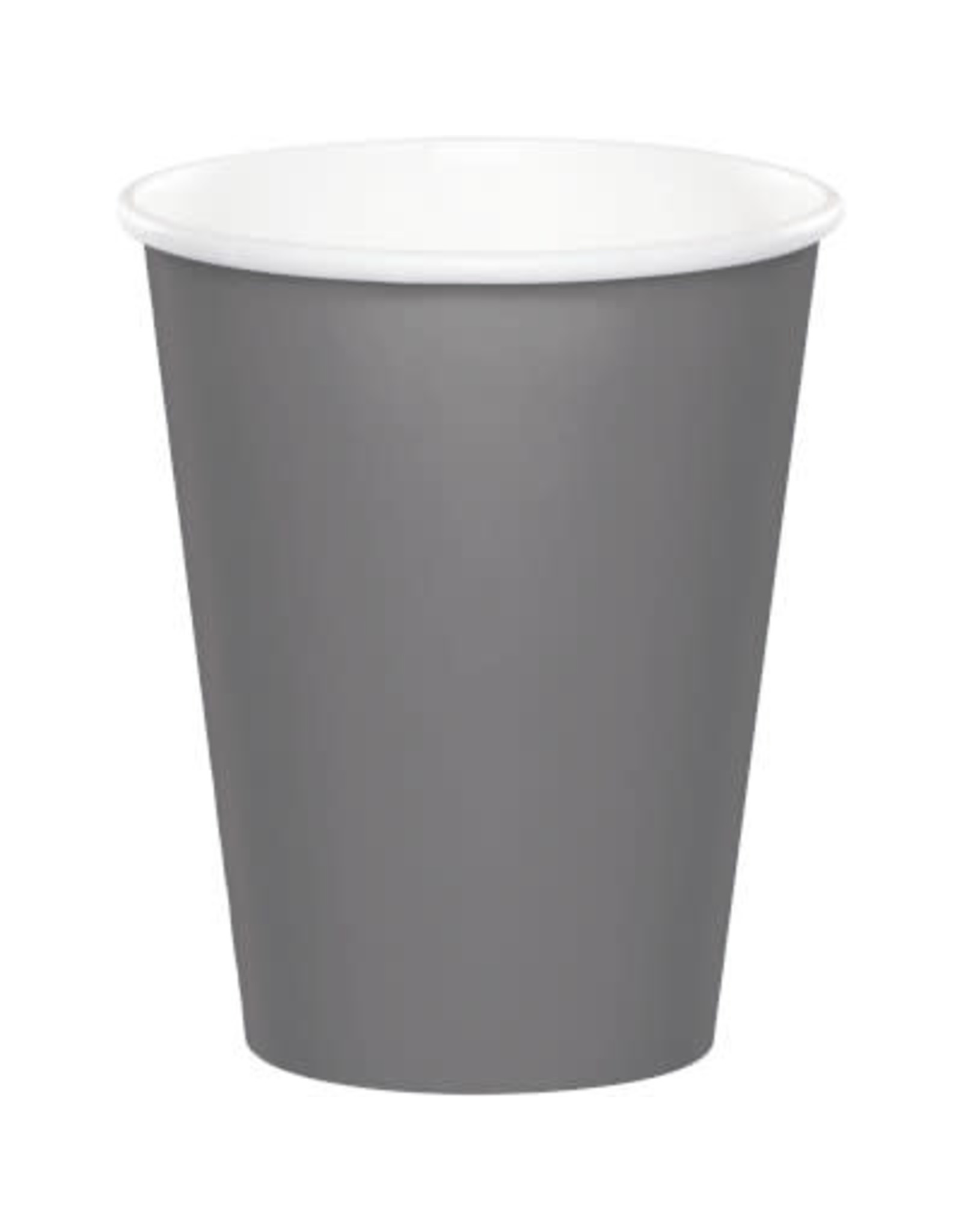 Touch of Color GLAMOUR GRAY PAPER CUPS 9OZ