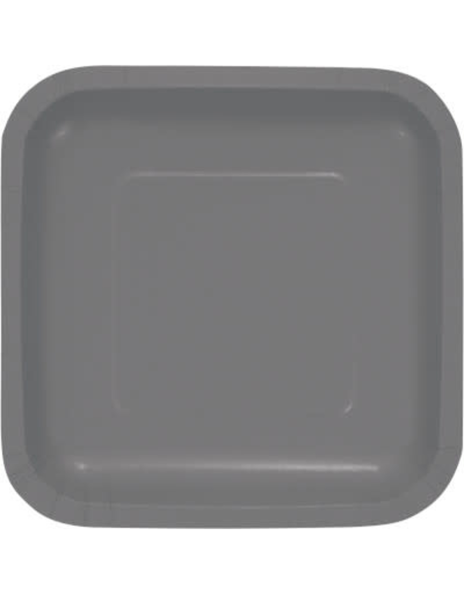 Touch of Color GLAMOUR GRAY SQUARE DESSERT PLATES