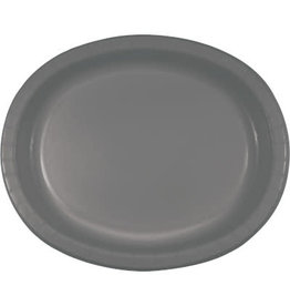 Touch of Color GLAMOUR GRAY OVAL PLATES