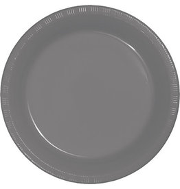 Touch of Color GLAMOUR GRAY PLASTIC BANQUET PLATES