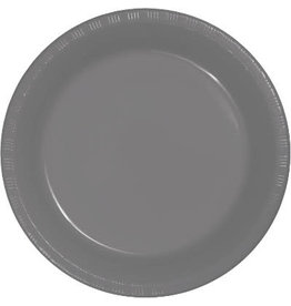 Touch of Color GLAMOUR GRAY PLASTIC DESSERT PLATES