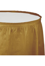 Touch of Color GLITTERING GOLD PLASTIC TABLESKIRT