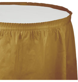 Touch of Color Glittering Gold Tableskirt - 14ft.