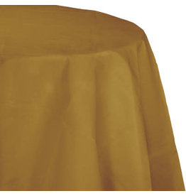 Touch of Color GLITTERING GOLD OCTY ROUND PAPER TABLECLOTH