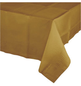 Touch of Color GLITTERING GOLD PLASTIC TABLECLOTH