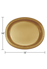 Touch of Color GLITTERING GOLD OVAL PLATES