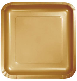 Touch of Color GLITTERING GOLD SQUARE DESSERT PLATES