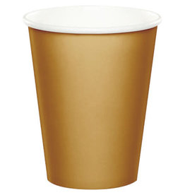 Touch of Color GLITTERING GOLD CUPS 9OZ